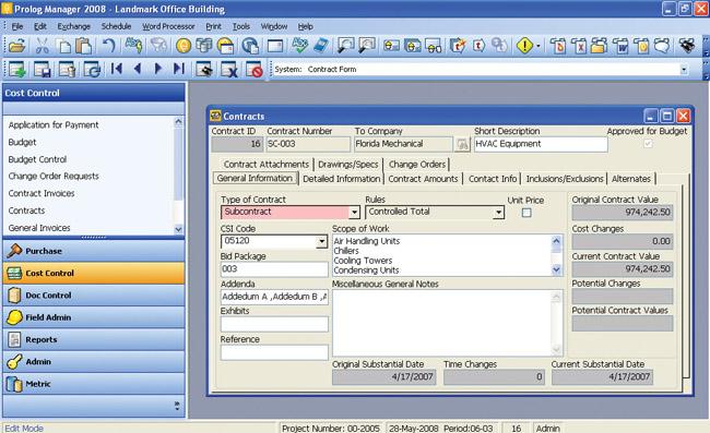 Construction Management Database : Meridian prolog isv with buildsite